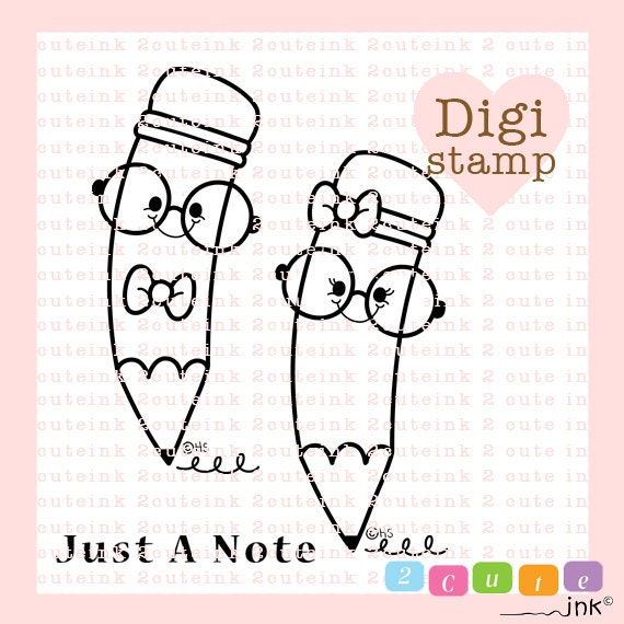 digital stamps for card making and paper crafts by 2CuteInk