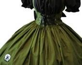 Zombie Hunter Costume - Halloween Costume - Zombie Hunter Dress -  Army Green Dress -  Black Dress - Custom Size including Plus Sizes