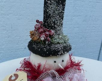 """7"""" Snowman Head Ornament Pattern"""