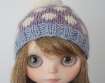 Seeing Dots - Blythe doll knitted hat