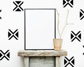 Triangle Wall Decal, Geometric Wall Decal, Triangle Decal, Dorm Decor, Bow Tie Decor, Modern Wall Decal, Nursery Wall Decal