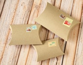 50pc Ribbed Kraft pillow boxes - choose from 3 Sizes