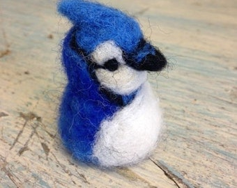Needle felted animal, blue jay, blue bird, Waldorf toy, Spring Nature table, Original deign by Borbala Arvai