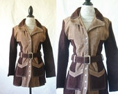 RESERVED c1970's Hand Tailored Suede Leather Jacket M/L