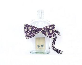 Dom - Floral Purple Men's Bow Tie
