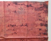 fabric - terracotta tie dye with veining - fat quarter - 18 x 22 inches