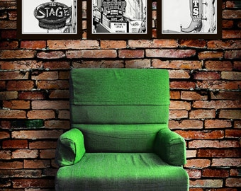 Nashville wall art black white photography urban country wall decor The Stage Trail West Second Fiddle sign photography industrial decor