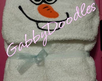 Silly Snowman Hooded Towel