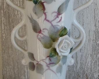 Handpainted vase made in Japan