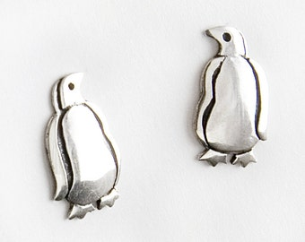 Penguin Sterling Silver Post Earrings