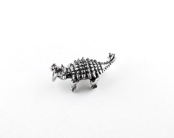Ankylosaurus Sterling Silver Charm