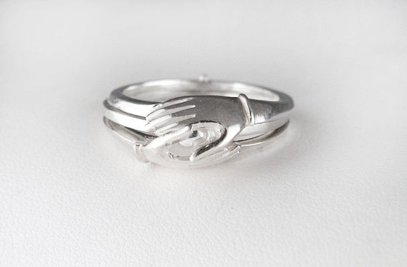 Sterling Silver Gimmel Ring