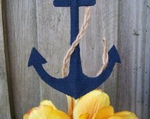 Baby shower, Nautical baby shower, nautical cake topper, nautical baby, nautical first birthday, burlap cake topper, nautical  wedding