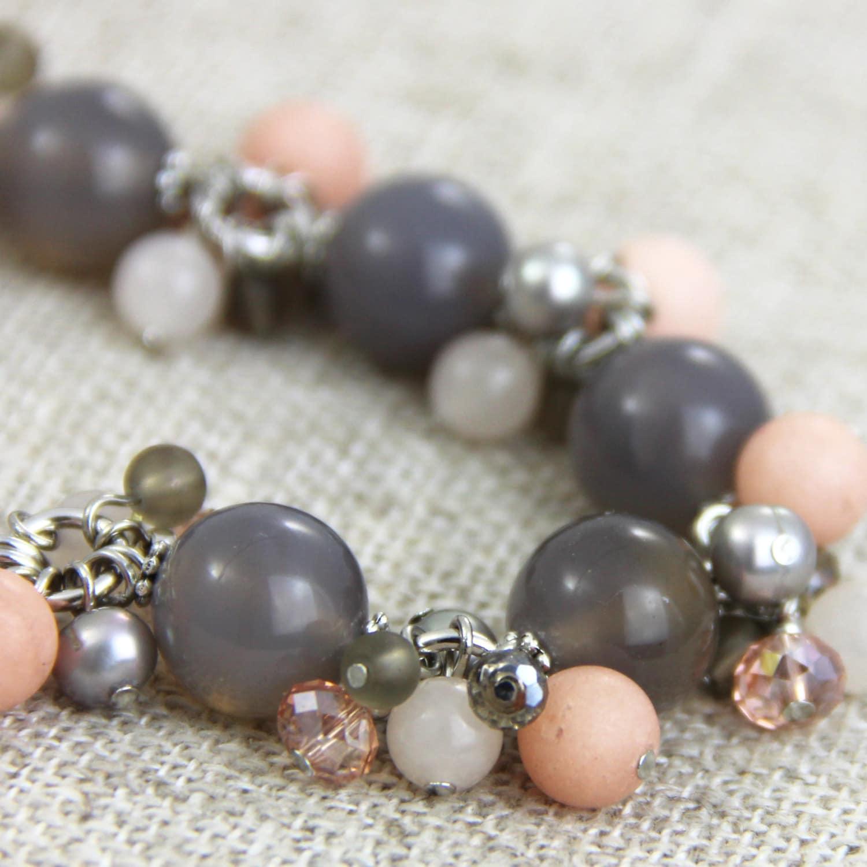 Classical Ballet Bracelet Light Pink Peach Gray by ...