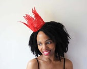 Red Rose Crown - red queen, lace crown, queen, princess, party crown