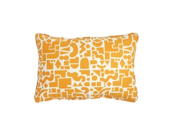 Shapes Rectangle Pillow - 24 x 16 in. - Modern Organic Cotton