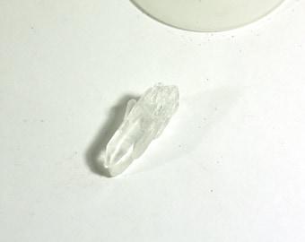 1 Raw Quartz Pendant - Clear Crystal Quartz Pendant Bead - Jewelry Supplies, wire wrapping