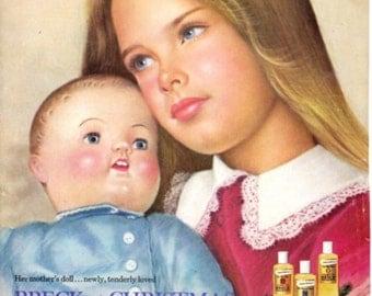 1974 Brooke Shields Breck Ad - Authentic - Original - Advertising Shampoo Ad - Rare Find!