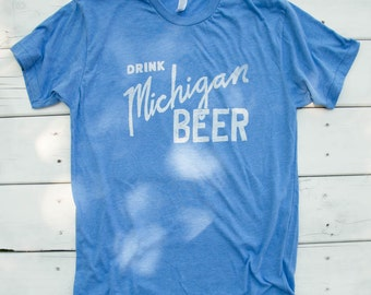 Drink Michigan Beer - Mens T-Shirt