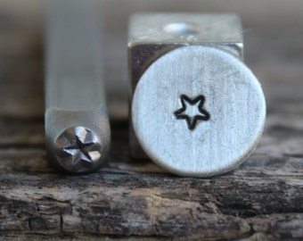 Star-(smaller) Rounded Corners-Metal Stamp-3mm Size-Steel Stamp-New Metal Design Stamps-by Metal Supply Chick