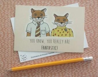 Fantastic Mr Fox Postcard