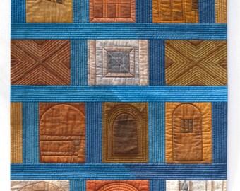 Opportunity Knocks Art Quilt/Fiber Art Wallhanging