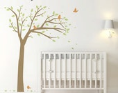 Bird Tree Wall Decal . Baby Nursery Wall Decal . Tree Wall Decal for home and office - LSWD-0068
