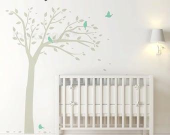 Bird Tree Decal - Forest Nursery Wall Decal - Children Decal - LSWD-0068