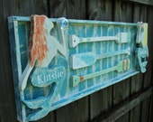Nautical Mermaid Sign, Beach House Wall Decor, Twin Headboard, Lake House Style