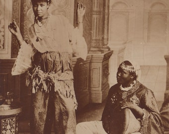 Egyptian Dancer with Accompanist, Cairo Postcard Trust, circa 1910s