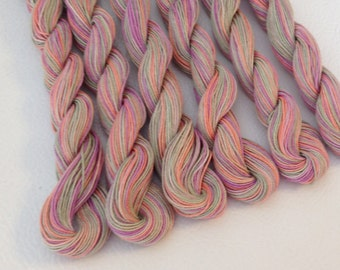 "Size 10 ""Spring Fling"" Hand Dyed Egyptian Cotton Thread - 50 Yard Skein"
