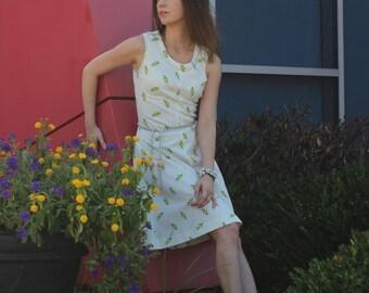 Vintage 1960s floral dress / 60s dress