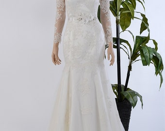 Lace wedding dress long sleeves