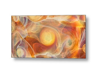 SOLARA Landscape Metal Print Ready To Hang Sunny Yellow Jubilant Art Abstract Glass Photography Free Shipping