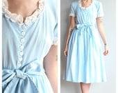 1940s Dress // Blue Moon Dress // vintage 40s dress