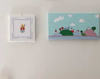Nursery Decor Children's Wall decor Kids Art- painting, Inspirational