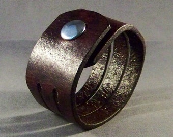 Leather Cuff-Wrist Women's Bracelet-Brown Leather Cuff, Women's Bracelet-Men's Bracelet-Friendship Bracelet-Gifts-Men's Cuff-Cuff Bracelet