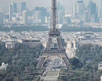 EIFFEL TOWER and the PARIS Skyline Photography France Travel Photo Europe Print European Art Paris Travel Photograph French Francophile