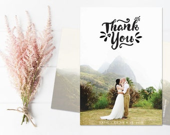 Thank You Cards Wedding, Wedding Thank You Postcard, Thank You Magnet - Petals