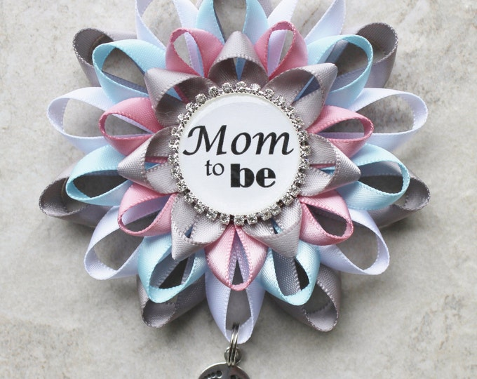Mommy to Be Pin, Aunt to Be Pin, Mommy to Be Corsage, Grandma to Be Pin, Nana, Pink and Blue Baby Shower Corsage, Baby Shower Decorations