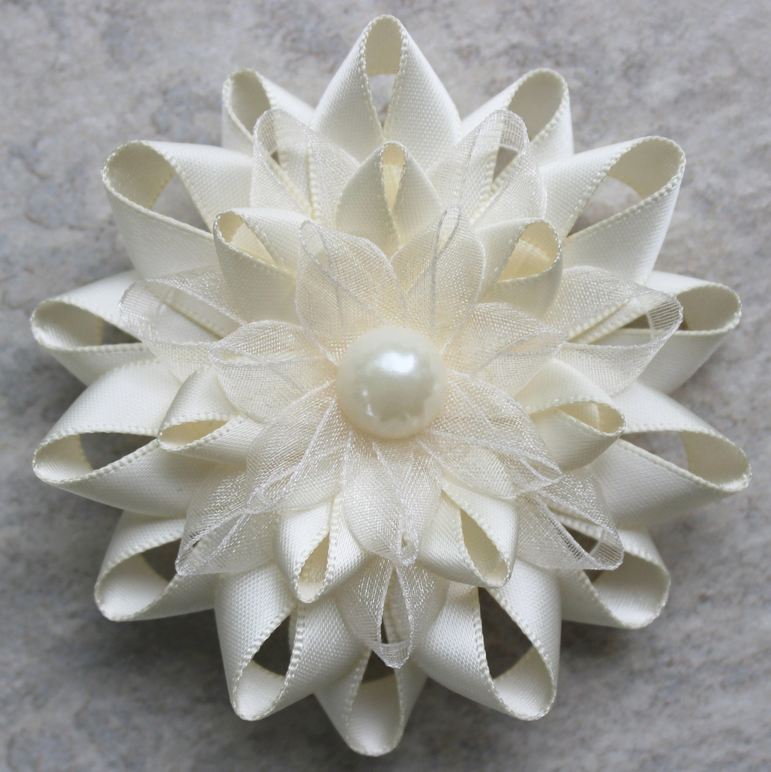 Corsages Ivory Corsage Flower Ivory Dress Pin Ivory Flower