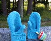 Fleece Baby Mittens | Toddler Mittens | Turquoise Mittens | Children Mittens