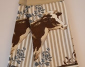 Set of Two Handmade Hanging Kitchen Towels- Farm and Outdoors- Kitchen Towels- Hanging Towels- Bathroom Towels