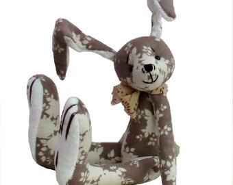 Hurdy Gurdy bunny rabbit soft toy sewing pattern