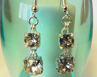 Swarovski Double Crystal Earrings