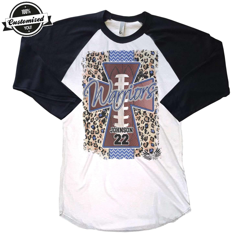 Football mom cross personalized football mom shirt football for Single order custom t shirts
