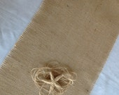 Burlap Table Runner / Select Size Rustic Table Decor by sweet janes plan