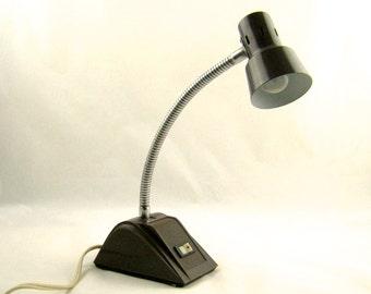 Modern Gooseneck Desk Lamp Industrial Mid Century Small Brown Table Lamp
