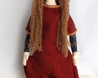 Medieval Queen – OOAK – Cloth Art Doll