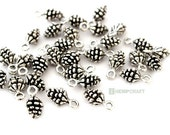 Pine Cone Charms, 30pc Conifer Cone Charms, Cone Charms, Silver Metal Charms, 13x7